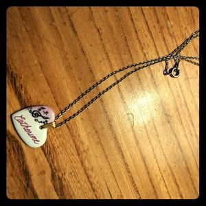 "Jewelry - Painted Ceramic ""Catherine"" and Music Necklace"